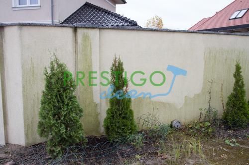 mycie-czyszczenie-elewacji-budynku-ogrodzenia-z-mchu-zielonego-porostu-czarnego-zabrudzenia-Wrocław